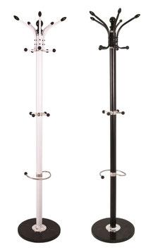 Garderoben-Ständer in schwarz oder weiß