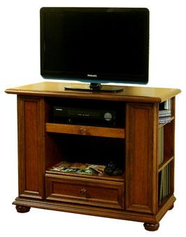 Nussbaumfarbiger TV-Schrank, antik