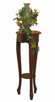 Nussbaumfarbige Blumensäule, antik