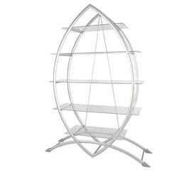 Glasregal mit 5 Ablageböden - modernes Design