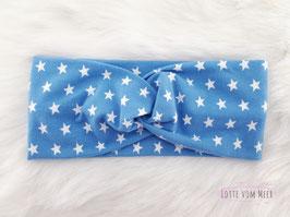 Stirnband mit Sternen hellblau