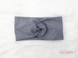 Stirnband schwarz und weiß geringelt