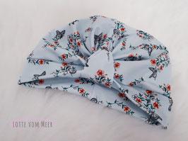 Turbanmütze Schmetterlinge hellblau