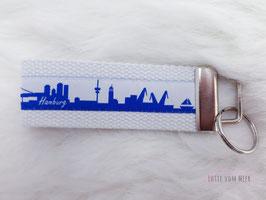 Schlüsselanhänger Hamburg weiß
