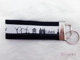 Schlüsselanhänger Lübeck schwarz