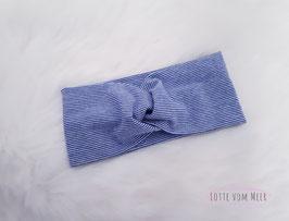 Stirnband blau/weiß geringelt