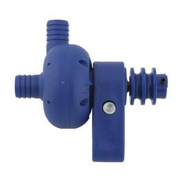 POMPA ACQUA NYLON BLU (senso di rotazione della pompa al contrario delle normali pompe in alluminio)