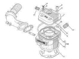 GUARNIZIONE TESTA OR X30 125cc RL-TaG 8