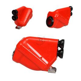 Silenziatore d'Aspirazione Modello ACTIVE 23mm, Colore Rosso - Omologazione CIK/FIA 28/SA/24