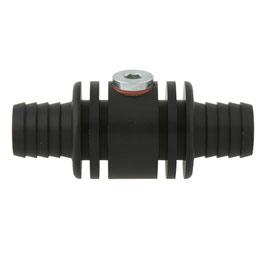 Raccordo per sonda acqua alluminio anodizzato di colore nero