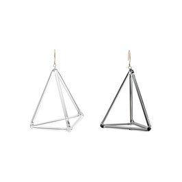 triangle pyramid earring