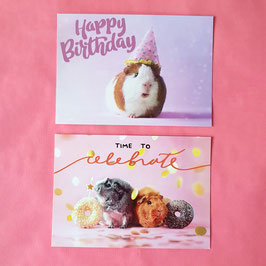 Birthday Cards - Set of 2 cards