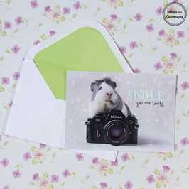 Smile - you are lovely card (1 card)