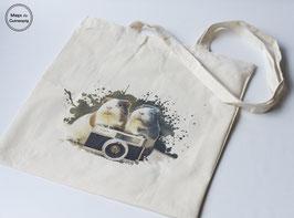 Camera Piggies tote bag