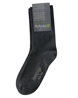 HempAge Socken, mit 32% Hanf schwarz BL003