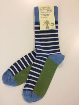 grödo Streifen Socken jeansblau 52218 unisex