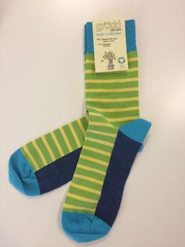 grödo Streifen Socken lagune 52218 unisex