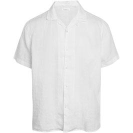 Knowledge Cotton Apparel Leinen-Hemd Bright White