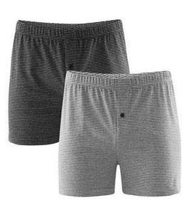 Living Crafts 2er Pack grau Boxer-Shorts Living Crafts 4388V