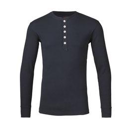 Knowledge Cotton Apparel Rib Knit Hendley blau 81003