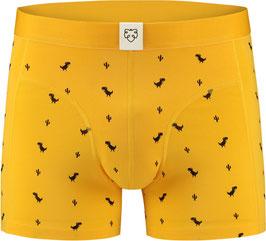 """a-dam Underwear Boxer-Brief  """" Dino """", gelb"""