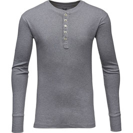 Knowledge Cotton Apparel Rib Knit Hendley 81003 grey melange