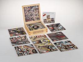 fractalphoto puzzle, 9 Teile, Motiv liquid