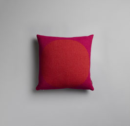 Asmund Bold Kissen Cushion Roros Tweed- red/turqouise
