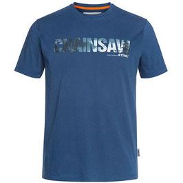 T-shirt (blauw) kettingzaag