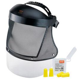 Gelaats-/gehoorbescherming lang met nylon raster