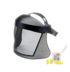 Gelaats-/gehoorbescherming kort met nylon raster