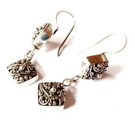 oorbellen zilver Bali KA E 020