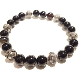 Bead armband 8mm gestreepte agaat.
