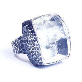Ring zilver met edelsteen 026