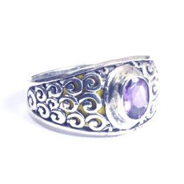 Ring zilver met edelsteen 039