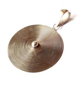 Zilveren hanger spiraal