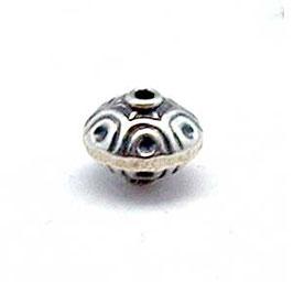Zilveren kraal B027