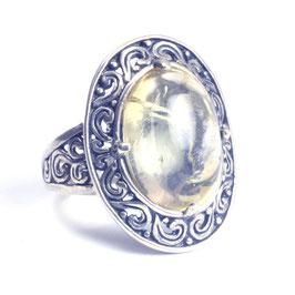 Ring zilver met edelsteen 042
