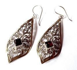 oorbellen zilver Bali KA E 024