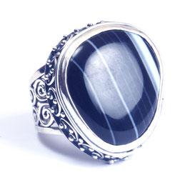 Ring zilver met edelsteen 0013