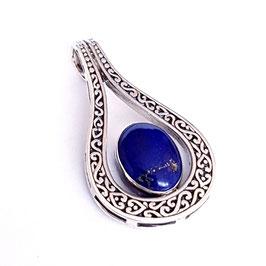 Zilveren hanger met lapis lazuli