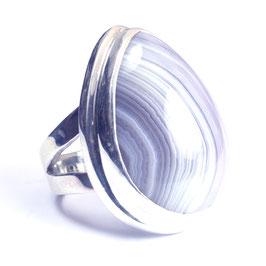 Ring zilver met edelsteen 006