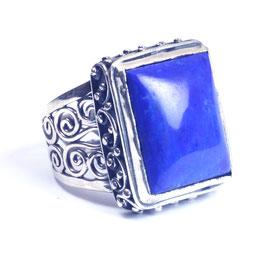 Ring zilver met edelsteen 0023