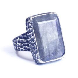 Ring zilver met edelsteen 012