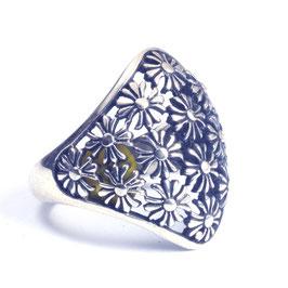 Ring zilver met edelsteen 037
