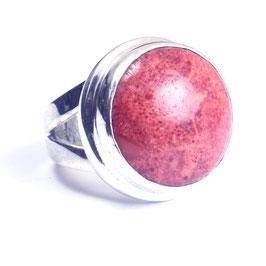 Ring zilver met edelsteen 0019