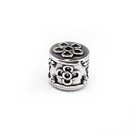 Zilveren kraal B441