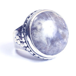 Ring zilver met edelsteen 0015