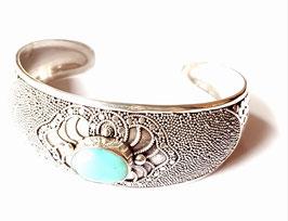 Zilveren armband met echte Turkoois