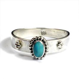 Ring zilver met turkoois
